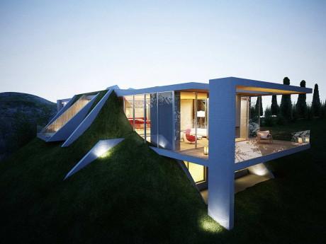 Проект земляного дома в Албании