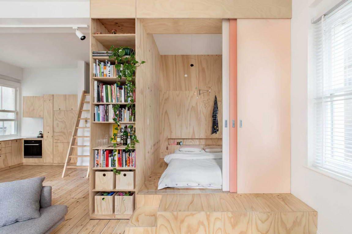 Шкаф в однокомнатной квартире фото