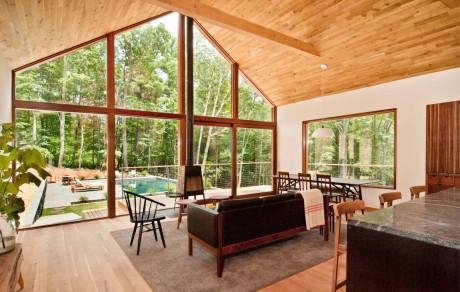 Дом Хадсон Вудс (Hudson Woods) в США от Lang Architecture.