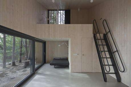 Домик у озера (Lake Cabin) в Чехии от FAM Architekti и Feilden+Mawson.