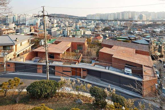 Кирпичный дом в Южной Корее