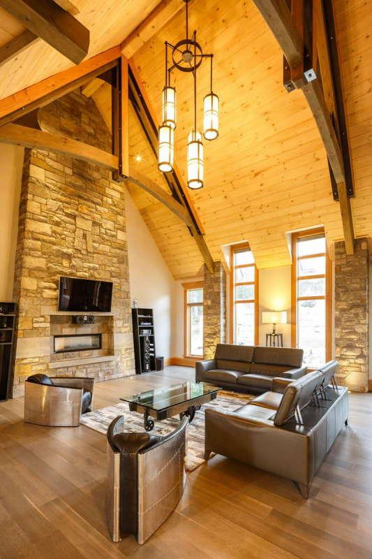 """Дом """"Камень, Медь, Стекло"""" (Rock Copper Glass) в Канаде от cdrg+RedTeam."""