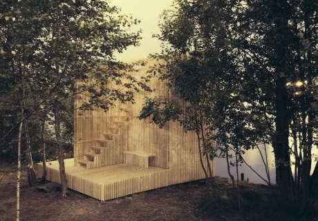 Деревянный павильон в Норвегии