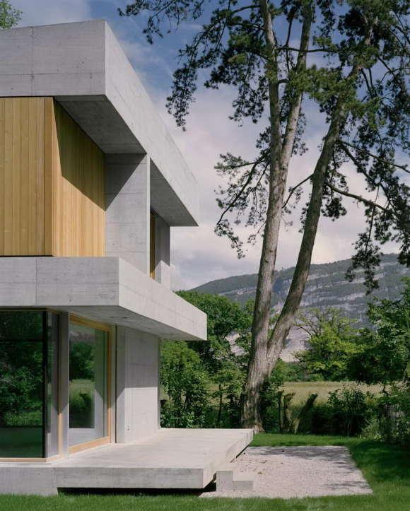 Вилла Сандмайер (Villa Sandmeier) в Швейцарии от Lacroix Chessex.