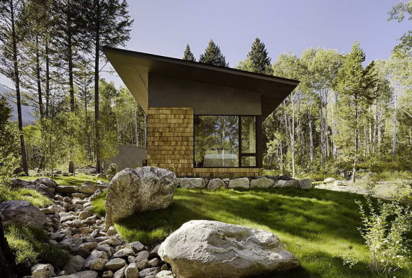 Гостевой дом (Fish Creek Compound Guest House) в США от Carney Logan Burke Architects.