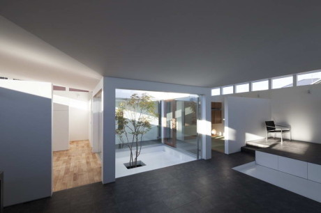 Дом IM (House IM) в Японии от Miyahara Architect Office.