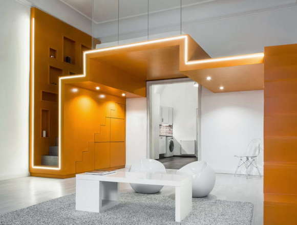 Лофт в Будапеште (Loft in Budapest) в Венгрии от Batlab Design.