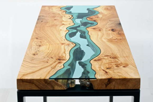 Table with Glass Rivers 1