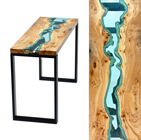 Table with Glass Rivers 2