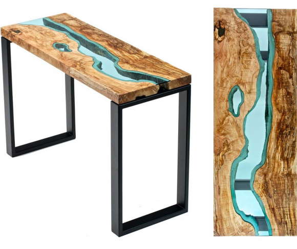 Table with Glass Rivers 4