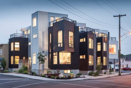 6 домов в Хинтонберге (6 Houses in Hintonburg) в Канаде от Colizza Bruni Architecture.