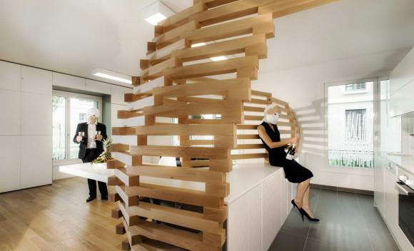 "Проект ""Деревянная волна"" (Woodwave) во Франции от Paul Coudamy."