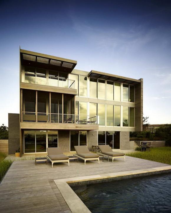 Резиденция у бухты (Cove Residence) в США от Stelle Lomont Rouhani Architects.