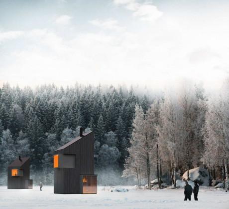 Современный зимний приют (Modern Winter Shelter) в Боснии и Герцеговине от FO4A Architecture.