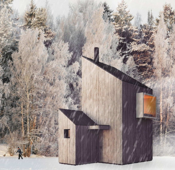 Modern Winter Shelter 3
