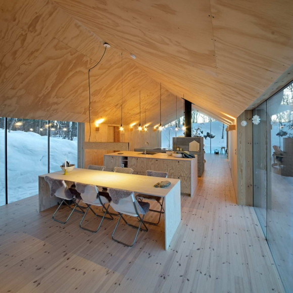 V-домик (V-lodge) в Норвегии от Reiulf Ramstad Architects.