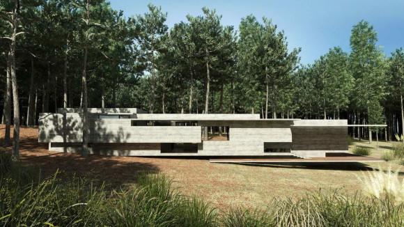 Проект бетонного дома в Аргентине
