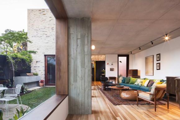 Дом с двором (Courtyard House) в Австралии от Aileen Sage Architects.