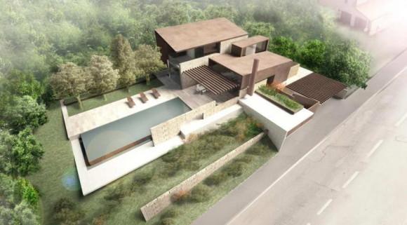 Проект современной виллы в Италии