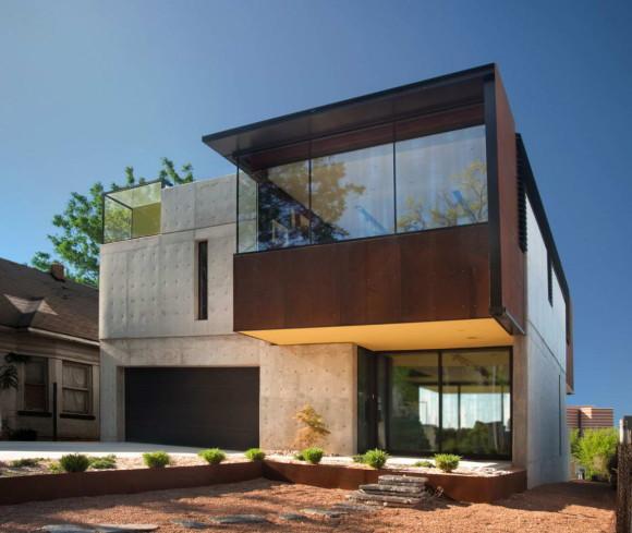 Дом в Оклахоме (Oklahoma Case Study House) в США от Fitzsimmons Architects.
