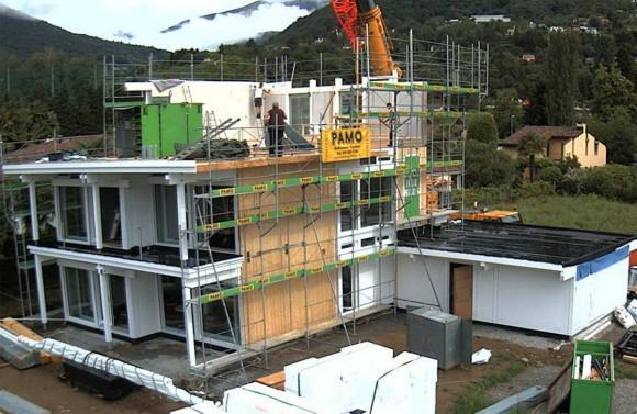 Costruzione di una casa HUF HAUS in legno a Magliaso 10