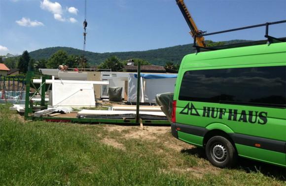 Costruzione di una casa HUF HAUS in legno a Magliaso 2