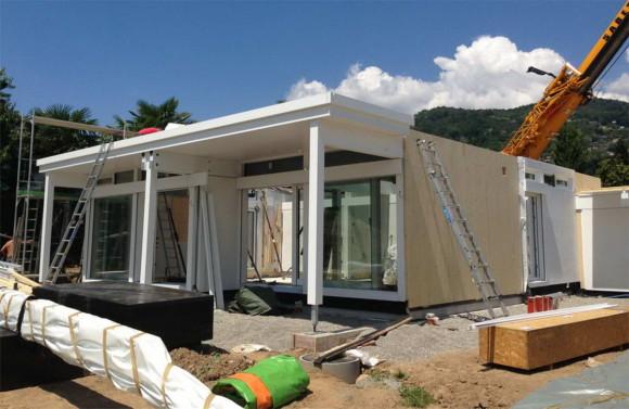 Costruzione di una casa HUF HAUS in legno a Magliaso 3
