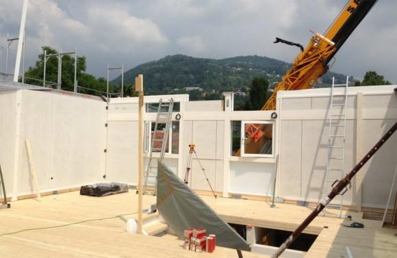 Costruzione di una casa HUF HAUS in legno a Magliaso 4