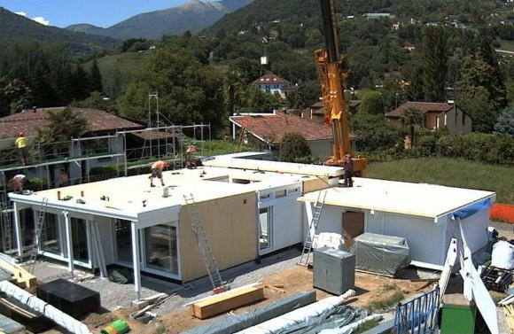 Costruzione di una casa HUF HAUS in legno a Magliaso 7