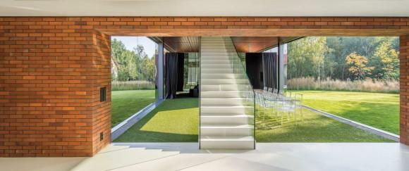 Дом с гостиной-садом (Living-Garden House In Katowice) в Польше от KWK Promes.