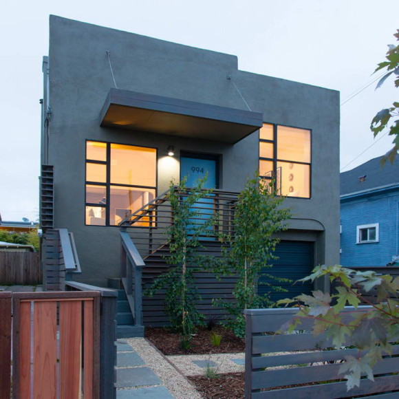 Трансформация дома (Oakland House Transformation) в США от Baran Studio Architecture.