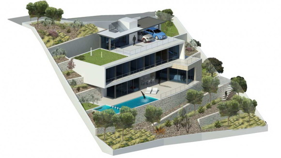 Дом на склоне в Испании