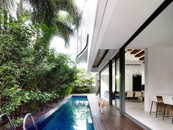 Частный дом для отдыха (Private Retreat) в Сингапуре от HYLA Architects.