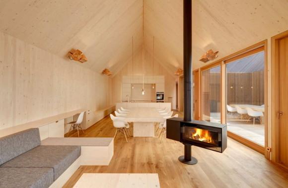 Деревянный дом (Timber House) в Германии от KUHNLEIN Architektur.