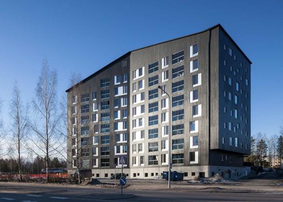 Деревянный жилой комплекс в Финляндии