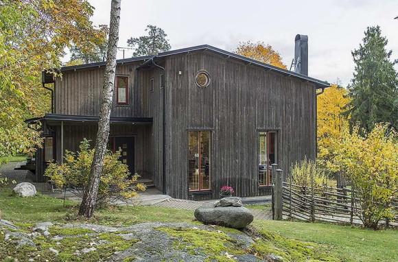 Традиционный шведский дом (Traditional house in Sweden).