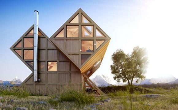 Проект деревянной дачи в Италии