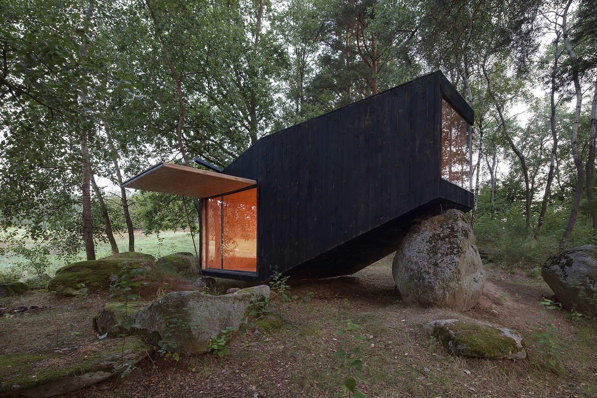 Маленький домик в лесу своими руками 59