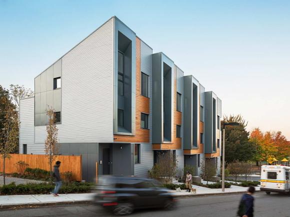 Энергоположительный городской дом в США