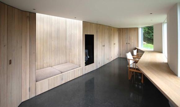 Садовая студия (Myrtle Cottage Garden Studio) в Англии от Stonewood Design.