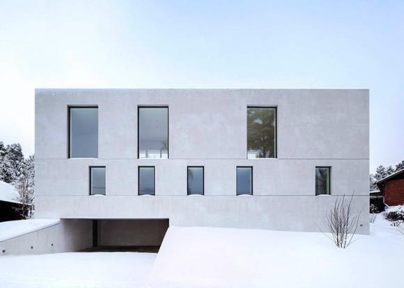 Бетонный дом в Швеции