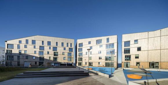 """Жилой комплекс """"Береговая линия"""" (The Waterfront) в Норвегии от AART architects и Studio Ludo."""