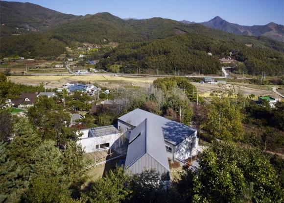 Пассивный дом (YangPyeong Passive House) в Южной Корее от Engineforce Architects.