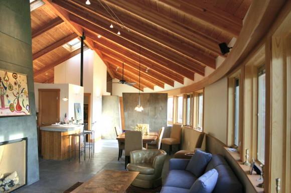 Дом-лист (Leaf Home) в США от Barrett Studio Architects.