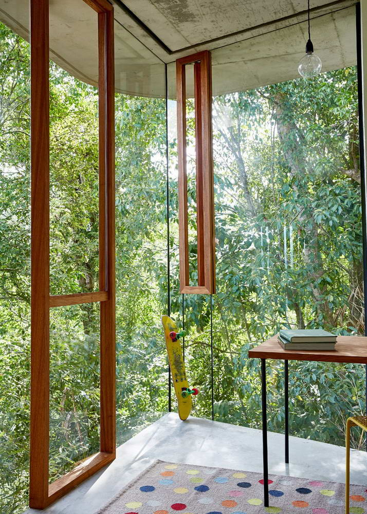 Playful concrete lines define tropical planchonella house in australia