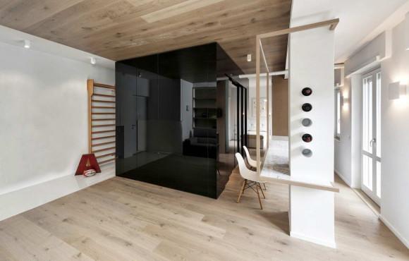 Квартира с чёрным кубом в Италии