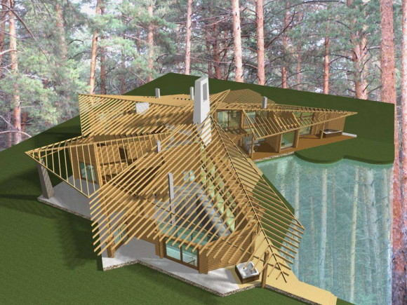 House in a pine forest 40