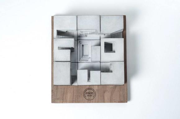 Миниатюрная бетонная деревня (Miniature Concrete Village) от Material Immaterial studio.