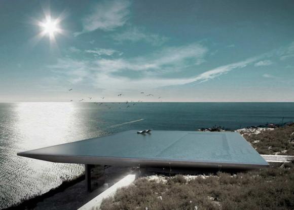 Дом с бассейном на крыше в Греции