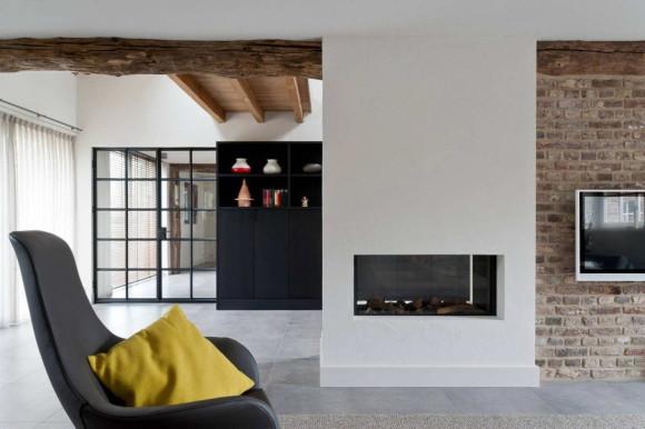 Новый интерьер старого дома в Голландии